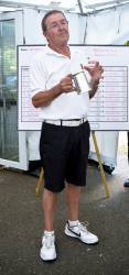 Dave Buddle with commemorative tankard