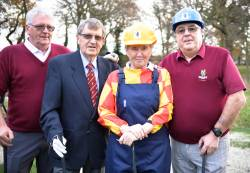 left to right: IPC Nigel Warder, President Alan Berry, Madam Captain Joan Smith, Vice-Captain Trevor Innard